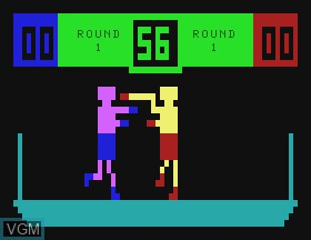 In-game screen of the game Boxing on APF Electronics Inc. APF-MP1000