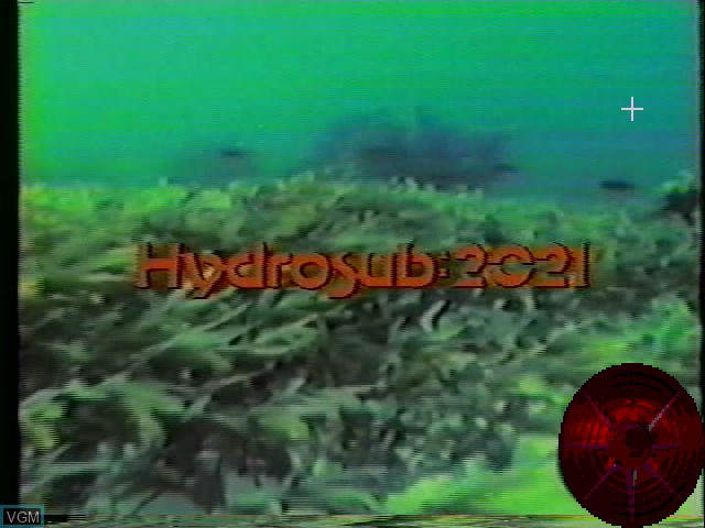 Title screen of the game Hydrosub: 2021 on Worlds of Wonder Action Max