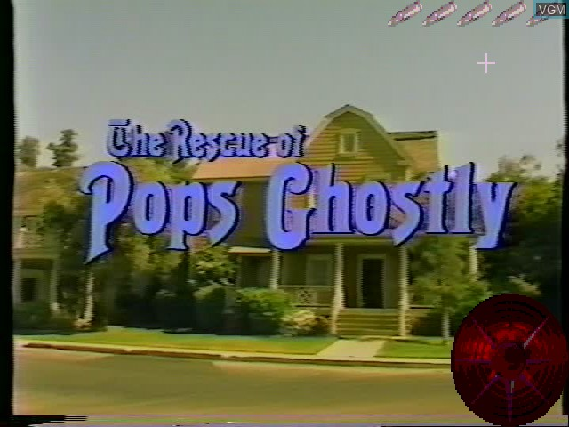 Title screen of the game Rescue of Pops Ghostly, The on Worlds of Wonder Action Max