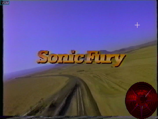 Title screen of the game Sonic Fury on Worlds of Wonder Action Max