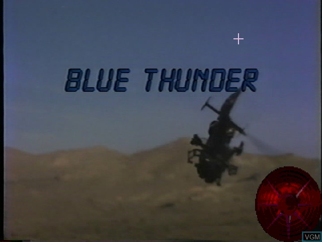 Title screen of the game Blue Thunder on Worlds of Wonder Action Max