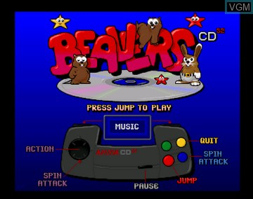 Title screen of the game Beavers on Amiga CD32