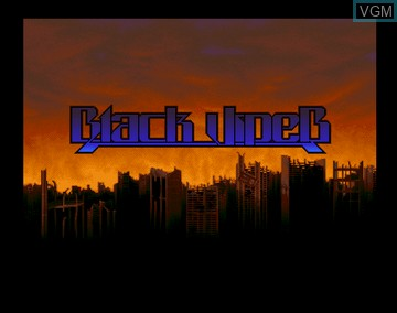Title screen of the game Black Viper on Amiga CD32