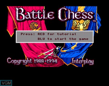 Title screen of the game Battle Chess on Amiga CD32