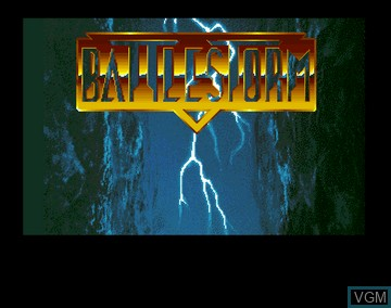 Title screen of the game Battle Storm on Amiga CD32