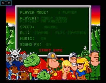 Menu screen of the game Bump 'n Turn on Amiga CD32