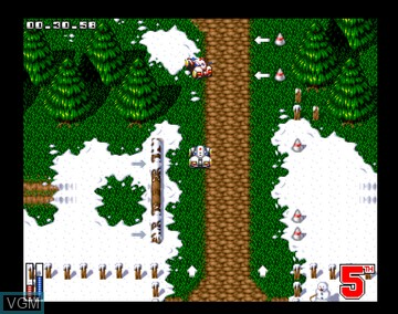 In-game screen of the game All Terrain Racing on Amiga CD32