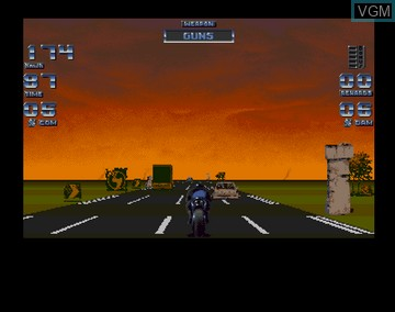In-game screen of the game Black Viper on Amiga CD32