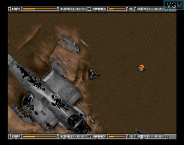 In-game screen of the game Alien Breed - Tower Assault on Amiga CD32