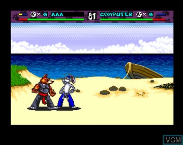 In-game screen of the game Brutal - Paws of Fury on Amiga CD32
