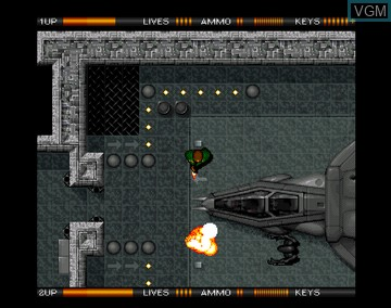In-game screen of the game Alien Breed Special Edition '92 on Amiga CD32