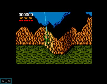 In-game screen of the game Battletoads on Amiga CD32