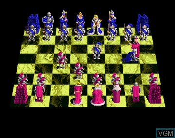 In-game screen of the game Battle Chess on Amiga CD32