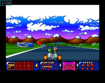 In-game screen of the game Bump 'n Turn on Amiga CD32