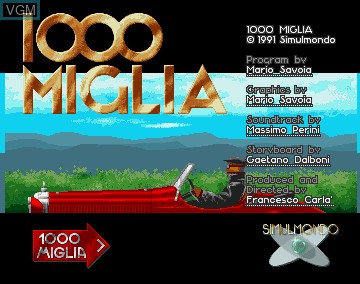 Title screen of the game 1000 Miglia on Commodore Amiga