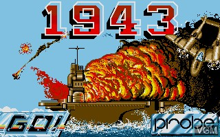 Title screen of the game 1943 - The Battle of Midway on Commodore Amiga