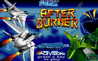 Title screen of the game After Burner on Commodore Amiga