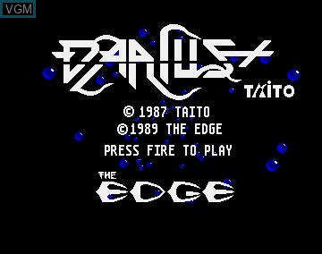Title screen of the game Darius + on Commodore Amiga