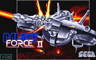 Title screen of the game Galaxy Force II on Commodore Amiga