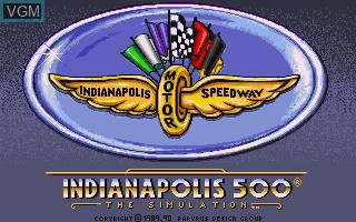 Title screen of the game Indianapolis 500 - The Simulation on Commodore Amiga