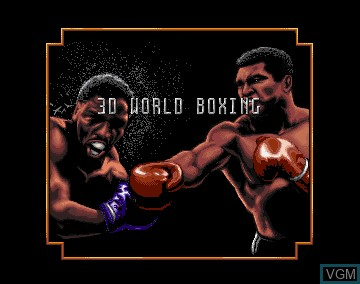 Title screen of the game 3D World Boxing on Commodore Amiga