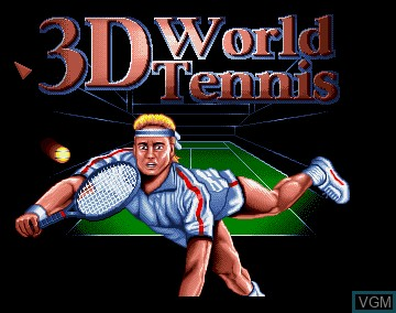 Title screen of the game 3D World Tennis on Commodore Amiga