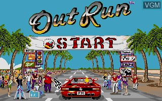 Title screen of the game Out Run on Commodore Amiga