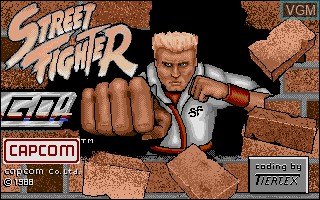 Title screen of the game Street Fighter on Commodore Amiga