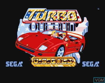 Title screen of the game Turbo Out Run on Commodore Amiga
