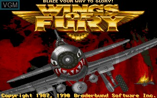 Title screen of the game Wings of Fury on Commodore Amiga