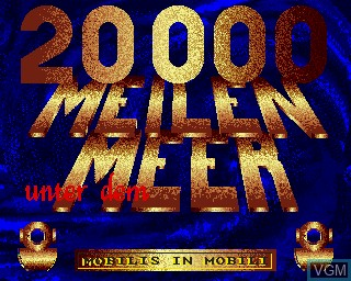 Title screen of the game 20000 Meilen Unter dem Meer on Commodore Amiga