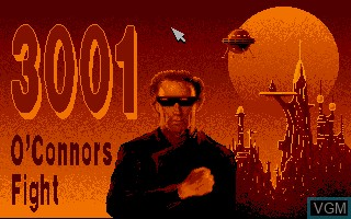 Title screen of the game 3001 - O'Connors Fight on Commodore Amiga