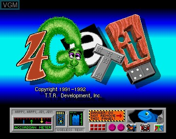 Title screen of the game 4-Get-It on Commodore Amiga