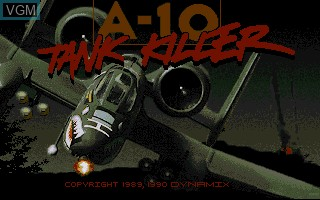 Title screen of the game A-10 Tank Killer on Commodore Amiga