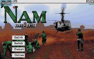 Title screen of the game Nam 1965 - 1975 on Commodore Amiga