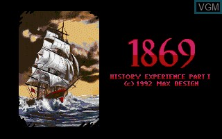 Title screen of the game 1869 - History Experience Part I on Commodore Amiga