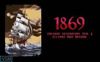Title screen of the game 1869 - Erlebte Geschichte Teil I on Commodore Amiga