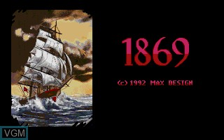 Title screen of the game 1869 on Commodore Amiga