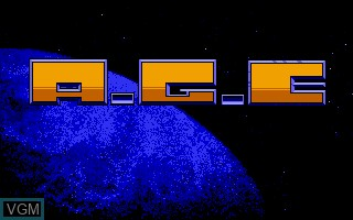 Title screen of the game A.G.E. - Advanced Galactic Empire on Commodore Amiga