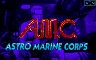 Title screen of the game A.M.C. - Astro Marine Corps on Commodore Amiga