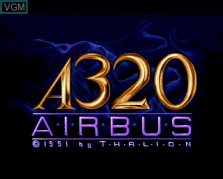 Title screen of the game A320 Airbus - Edition Europa on Commodore Amiga