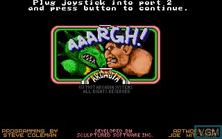 Title screen of the game Aaargh! on Commodore Amiga