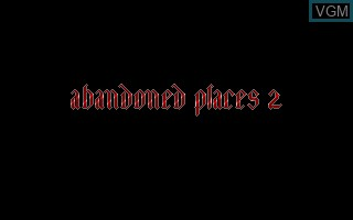 Title screen of the game Abandoned Places 2 on Commodore Amiga