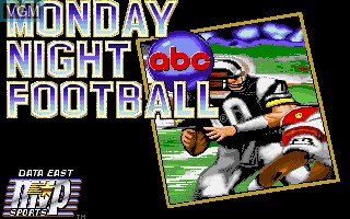 Title screen of the game ABC Monday Night Football on Commodore Amiga