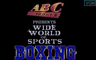 Title screen of the game ABC's Wide World of Sports - Boxing on Commodore Amiga