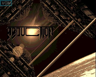 Title screen of the game Abduction on Commodore Amiga