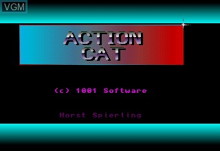 Title screen of the game Action Cat on Commodore Amiga