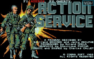 Title screen of the game Action Service on Commodore Amiga