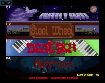 Menu screen of the game Pinball Dreams on Commodore Amiga