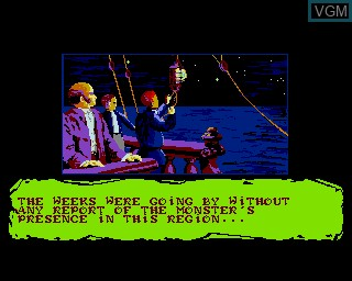 Menu screen of the game 20000 Leagues Under the Sea on Commodore Amiga